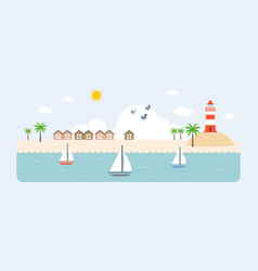 info graphic and elements of resort vector image vector image