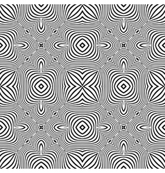 optical art abstract striped seamless deco pattern vector image