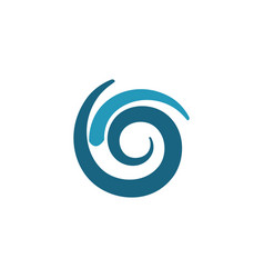 round swirl abstract logo vector image vector image