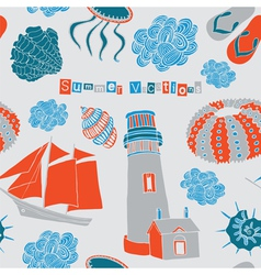 Sea love vector image vector image