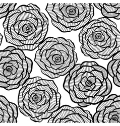 seamless background with lace roses vector image