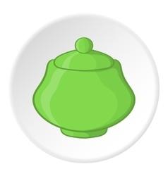 Sugar bowl icon cartoon style vector image