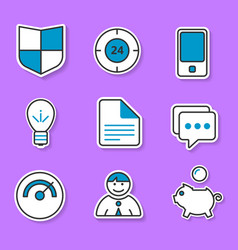 the set of exclusive icons in the paper style for vector image vector image