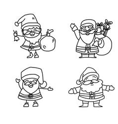cartoon character christmas santa claus vector image