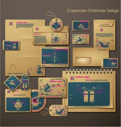 Corporate christmas design vector
