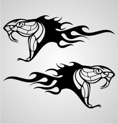 Flaming Snake vector image