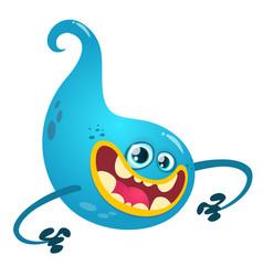 happy cartoon ghost vector image vector image