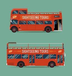 Sightseeing Tour Bus Set vector image