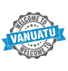 vanuatu round ribbon seal vector image vector image