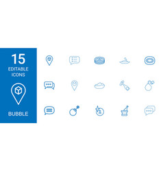15 bubble icons vector