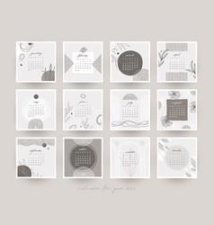 2022 calendar template vector