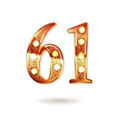 61 years anniversary celebration design vector image