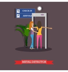 Airport security checkpoint concept design element vector