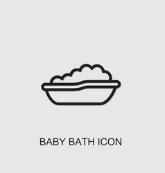 Baby bath icon vector
