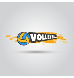 Ball symbol Volleyball Logo Badge Sport emblem vector image
