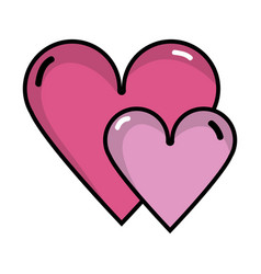 Beauty hearts a romance decoration design vector