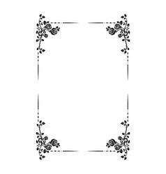 black frame roses vector image