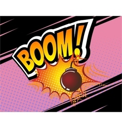 Boom Retro Comic Speech Bubble Cartoon vector