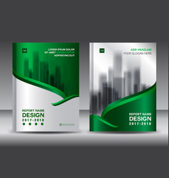 Brochure template layout green cover design vector