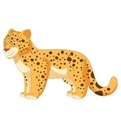 Cartoon smiling Leopard vector