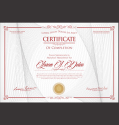 Certificate or diploma retro vintage design 1 vector