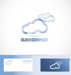 Cloud company logo vector