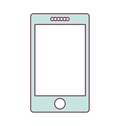 contour smartphone in light blue color vector image