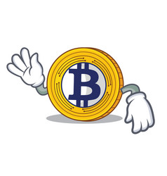 Crazy bitcoin gold character cartoon vector