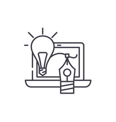 creativity line icon concept creativity vector image