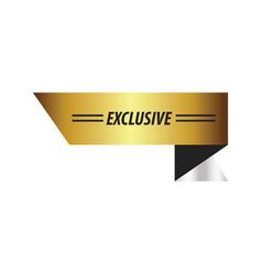 Design ribbon exclusive gold silver vector
