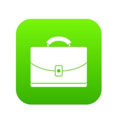 Diplomat icon digital green vector