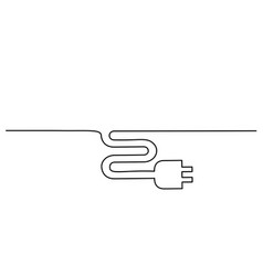 electrical plug icon on white background vector image
