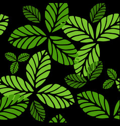 fashion seamless pattern with greenery leaves vector image