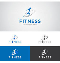 Fitness and sports logo vector