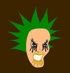 Flat icon on theme evil face vector
