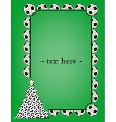 Frame with soccer balls vector image