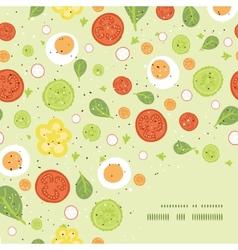fresh salad frame corner pattern background vector image