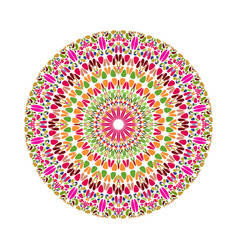 Geometrical circular colorful abstract gravel vector