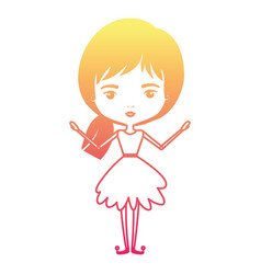 girly fairy without wings and short collected hair vector image