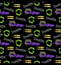 graphic pattern with shark vector image