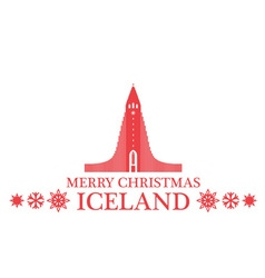 Greeting card iceland vector