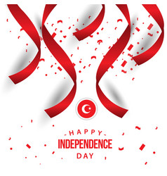 Happy turkey independence day template design vector