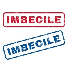 Imbecile Rubber Stamps vector