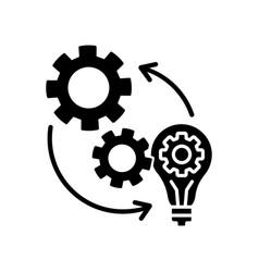 Implementation black glyph icon vector