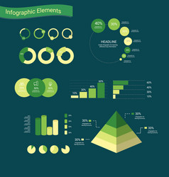 infographic elements with chart and layout vector image vector image