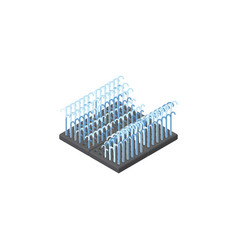 isolated park decoration isometric fountain vector image