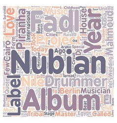 Mahmoud Fadl Nubian Master Drummer text background vector