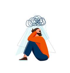 Mental health sad depressed vector