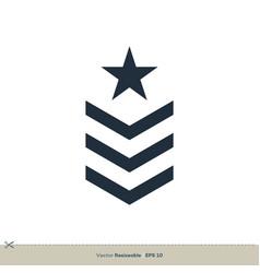 Military rank icon logo template design eps 10 vector