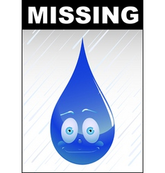 missing water vector image